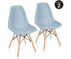 Pack 2 Sedie sala da pranzo Blu con design nordico- McHaus