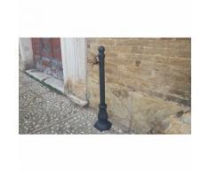 Fontana a colonna in ghisa ed acciaio per casa giardino con rubinetto