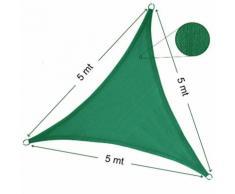 Vela Parasole Ombreggiante Triangolare 5x5x5 mt Verde