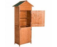 Casetta in legno per gli attrezzi da esterno, 190x79x49 cm