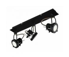 Faretti lampade spot in metallo techno con finitura nero satinato 3xgu10 6w led orientabili