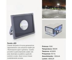 PANNELLO FARETTO FARO COB LED LUCE BIANCO FREDDO 6500K PER ESTERNO INTERNO IP65 | 50