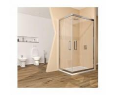 Box doccia cabina angolare 70x70 scorrevole vetro cristallo trasparente anticalcare 6mm. Acacia
