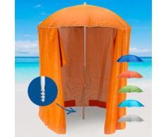 Ombrellone mare GiraFacile 200 Cm Protezione UV tenda spiaggia pesca ZEUS | Arancione