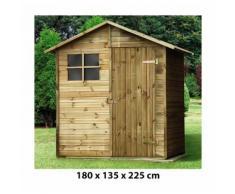Casetta Box Capanno In Legno Per Attrezzi Con Porta E Finestra 180x135x225cm