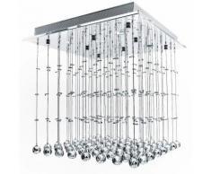 Lampadario Da Soffitto Con Pendenti In Cristallo Di Vetro Moderno A++ 50x50x50cm