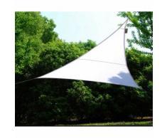 Vela Telo Ombreggiante 5x5 Triangolare Bianco Giardino Ombra Sole Tenda Parasole