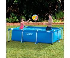 Piscina fuoriterra da giardino piscina montabile intex rettangolare misure: 220x150x60