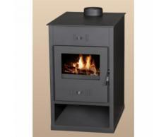 Stufa-cucina a legna Atlante con piastra cottura - 24 kW in acciaio ad alto spessore colore
