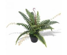Felce Pianta Artificiale con Vaso 50 cm Verde