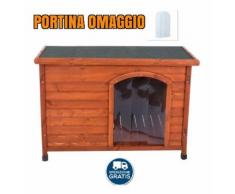 Cuccia per cane in legno impermeabile tetto spiovente per esterno ***portina in misura: medium