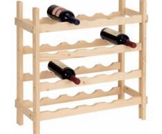 Cantinetta Portabottiglie 20 Bottiglie Di Vino In Legno Abete Grezzo 60x25x65cm Fumer