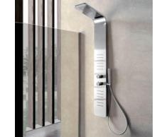 Pannello doccia idromassaggio Monte Antelao acciaio inox spazzolato miscelatore incasso a 3 vie