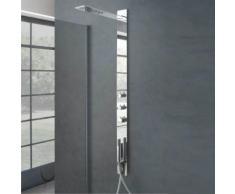 Pannello doccia incasso Monviso acciaio inox miscelatore termostatico a 2 vie