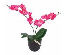 Orchidea Artificiale con Vaso 30 cm Rossa