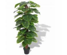 Taro Pianta Artificiale con Vaso 145 cm Verde