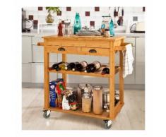 SoBuy Carrello cucina salvaspazio credenza cucina mobiletto cucina FKW08-N