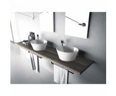 lavabo da appoggio hidra W1 Wire   Bianco