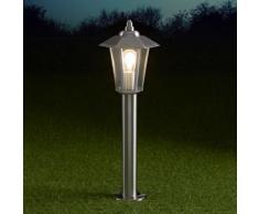 Cannes Paletto IP44 600 mm Tradizionale Stile Lanterna per Esterni in Acciaio Inox con Lampadina a