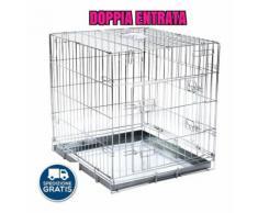 Gabbia per cani trasporto trasportino auto cane animali recinto pieghevole misura: mis3 cm 76x54x64