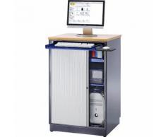 Stazione di lavoro per PC ,alt. x largh. x prof. 1110 x 720 x 660 mm, mobile RAU