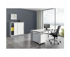 Ufficio completo ARCOS ,scrivania, armadio con ante scorrevoli, cassettiera con rotelle con cassetto per cartelle sospese mauser