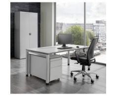 Ufficio completo ARCOS ,scrivania, armadio con ante a battente, cassettiera con rotelle con supporto per cartelle sospese mauser