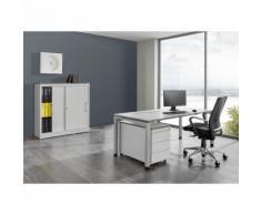 Ufficio completo ARCOS ,scrivania, armadio con ante scorrevoli, cassettiera con rotelle con 3 cassetti mauser
