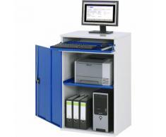 Stazione di lavoro per computer ,corpo armadio con 1 ripiano estraibile RAU