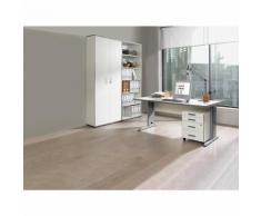 JACK - Ufficio completo ,scrivania, cassettiera con rotelle, scaffale