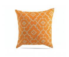 Cuscino decorativo in lino arancione