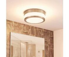 Plafoniera LED per il bagno Luanna tonda in vetro