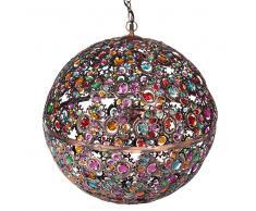 Maisons du Monde Lampada a sospensione multicolore in metallo e vetro D 50 cm MILLE ET UNE NUITS