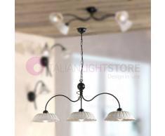 Lampadari In Ferro E Ceramica : Lampadario legno e ferro battuto lampadario cucina legno powrgard