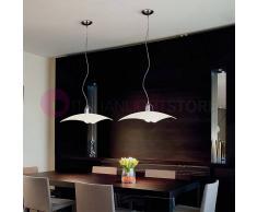 Silvenlight Denim Lampada A Sospensione Moderna In Vetro Colorato L. 46x46