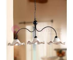 Lampadari In Ferro E Ceramica : Appliques in ferro battuto e plafoniere in ferro
