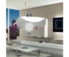 Padana Lampadari Fly Lampada A Sospensione Bianca Moderna D. 30 Cm
