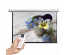 vidaXL Schermo per Proiettore Elettrico con Telecomando 160x90 cm 16:9