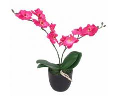 vidaXL Orchidea Artificiale con Vaso 30 cm Rossa