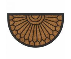 vidaXL Zerbino in Fibra di Cocco e Gomma Forma a Semicerchio 45x75 cm