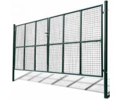 vidaXL Cancello a Rete per Giardino 415 x 250 cm / 400 x 200 cm