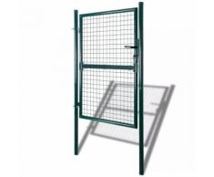 vidaXL Cancello recinto per giardino rete griglia 85,5 x 175 cm/100 x 225 cm