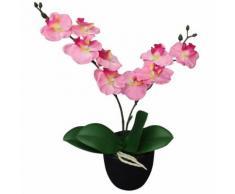 vidaXL Orchidea Artificiale con Vaso 30 cm Rosa