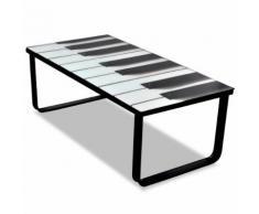 vidaXL Tavolino da Caffè con Ripiano con Stampa su Vetro