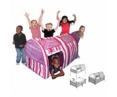 Casetta Tenda Bambini In Tessuto Bazoongi Pink Stripe Bed Tent...