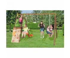 Area Giochi Altalena Scivolo Playground In Metallo E Legno H230cm ...