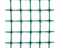 Rete Quadra Da Giardino 50mm In Plastica 1x25m Rama Mirror Verde...