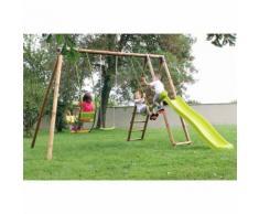 Area Giochi Altalena Scivolo Playground In Legno H250cm New Plast ...