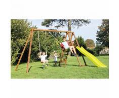 Area Giochi Altalena Scivolo Playground In Legno H235cm New Plast ...