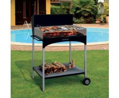 Barbecue A Legna Con Griglia In Ferro Cromato Famur Bk 8 Eco...